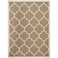 Safavieh Indoor/ Outdoor Courtyard Trellis Pattern Brown/ Bone Rug (8' x 11')