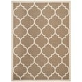Safavieh Indoor/ Outdoor Courtyard Brown/ Bone Rug (9' x 12')