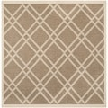 Safavieh Indoor/ Outdoor Courtyard Brown/ Bone Rug (7'10 Square)