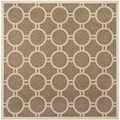 Safavieh Courtyard Brown/ Bone Geometric-pattern Indoor/ Outdoor Rug (7'10 Square)