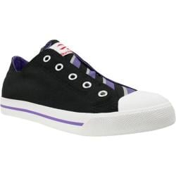 Women's Burnetie Slip Wide Stripe Black/Purple