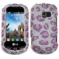 BasAcc Leopard Skin/ Purple Diamante Case for LG VN271 Extravert