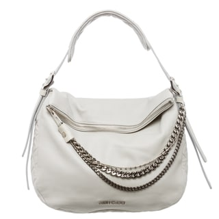 Jimmy Choo Pearl Grey Small Boho Shoulder Bag BOHO/S BKL