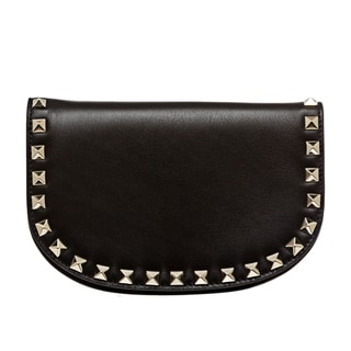 Valentino 'Rockstud' Black Leather Studded Cross-body Bag