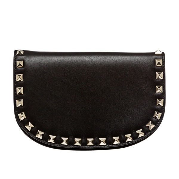 Valentino 'Rockstud' Black Leather Studded Cross-body Bag