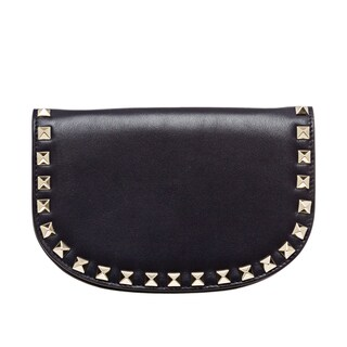 Valentino 'Rockstud' Navy Leather Studded Cross-body Bag