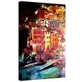 Markus Bleichner 'Magic Cinque Terre Night Riomaggiore' Gallery Wrapped Canvas