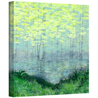 Herb Dickinson 'Misty Lake Morning' Gallery Wrapped Canvas