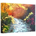 Herb Dickinson 'Oconaluftee River' Gallery Wrapped Canvas
