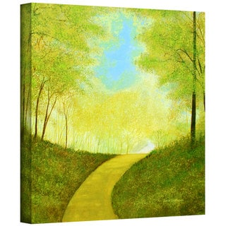 Herb Dickinson 'Winding Road' Gallery Wrapped Canvas