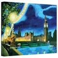 Martina Bleichner 'London Big Ben and Parliament with Thames' Gallery Wrapped Canvas