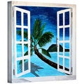 Martina Bleichner 'Palm View Window' Gallery Wrapped Canvas