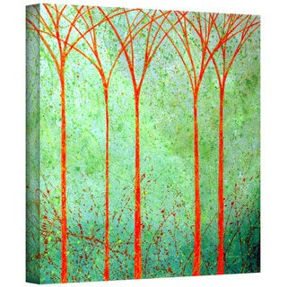 Herb Dickinson 'Apricot Forest' Gallery Wrapped Canvas