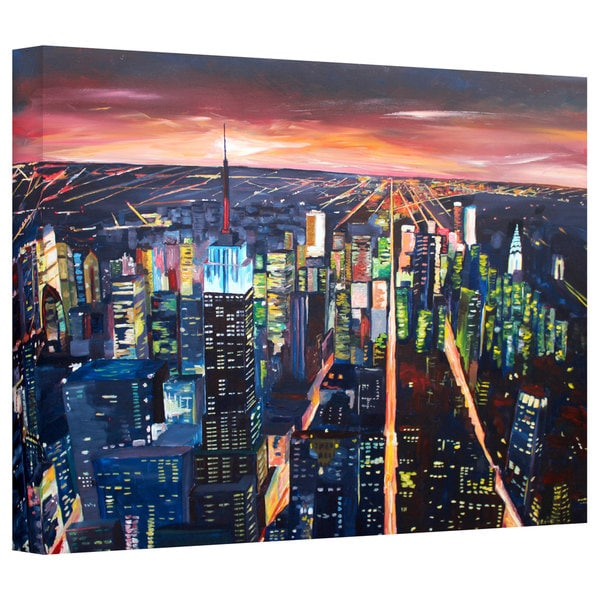 Markus Bleichner 'New York City - the Empire State Building at Night' Gallery Wrapped Canvas