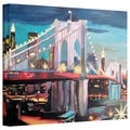 Markus Bleichner 'New York City - Manhatten Bridge' Gallery Wrapped Canvas