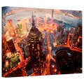 Markus Bleichner 'Shanghai Skyline at Dusk' Gallery Wrapped Canvas