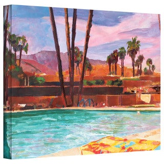 Markus Bleichner 'The Palm Springs Pool' Gallery Wrapped Canvas