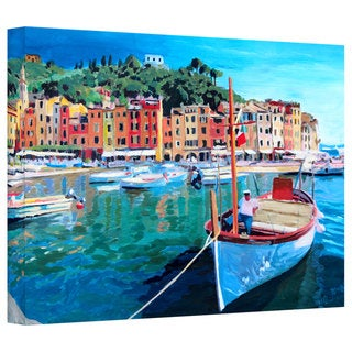 Markus Bleichner 'Tranquility of the Harbour of Portofino' Gallery Wrapped Canvas