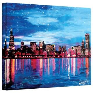 Martina Bleichner 'Chicago Skyline at Dusk' Gallery Wrapped Canvas