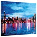 Martina Bleichner 'Chicago Skyline at Dusk' Gallery Wrapped Canvas