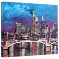 Martina Bleichner 'Frankfurt Mainhattan Skyline' Gallery Wrapped Canvas