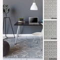 Mandara Handmade Abstract Pattern Flatweave Grey Rug (5' x 7')
