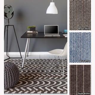 Mandara Hand-tufted Abstract Contemporary Wool Rug (5' x 7')