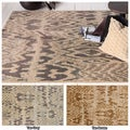 Mandara Hand-tufted Abstract Wool/ Viscose Rug (7'9 x 10'6)