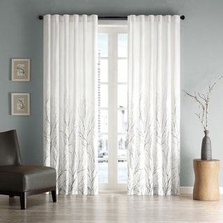 Madison Park Eliza Faux Silk  Curtain Panel