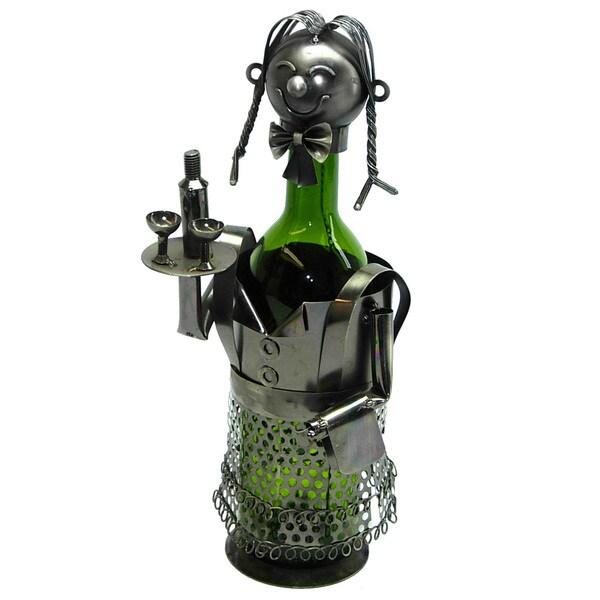 Wine Bottle Holder Lady Waitress Wine Caddy