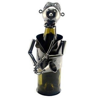 Wine Bottle Holder Sax Player Wine Caddy