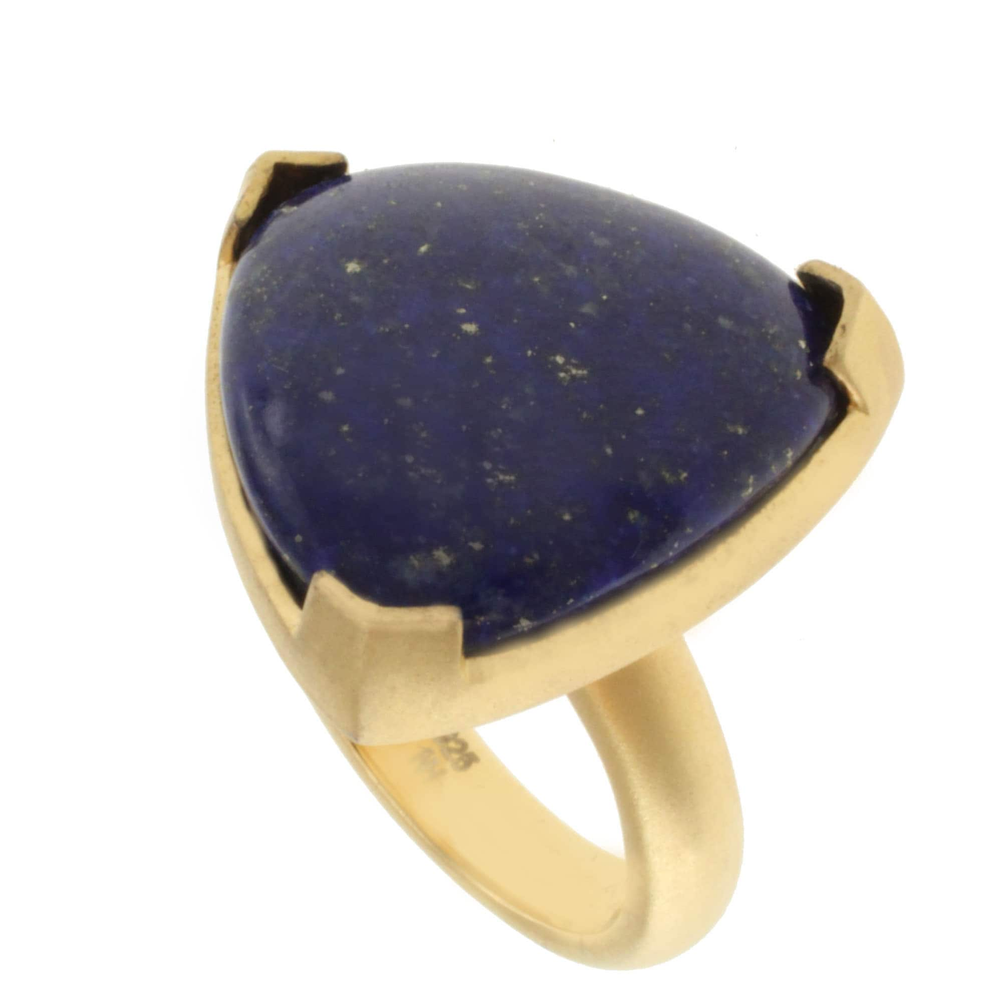 Michael Valitutti Gold over Silver Lapis Ring