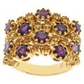 Michael Valitutti Gold over Silver Amethyst and Citrine Ring