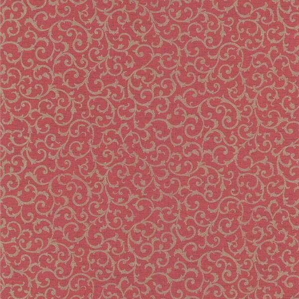 Red Small Scrolls Wallpaper
