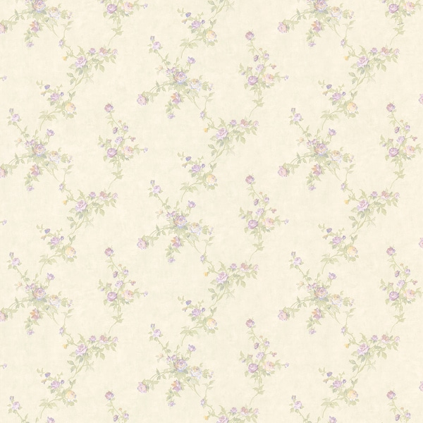 Lavender Small Floral Print Wallpaper