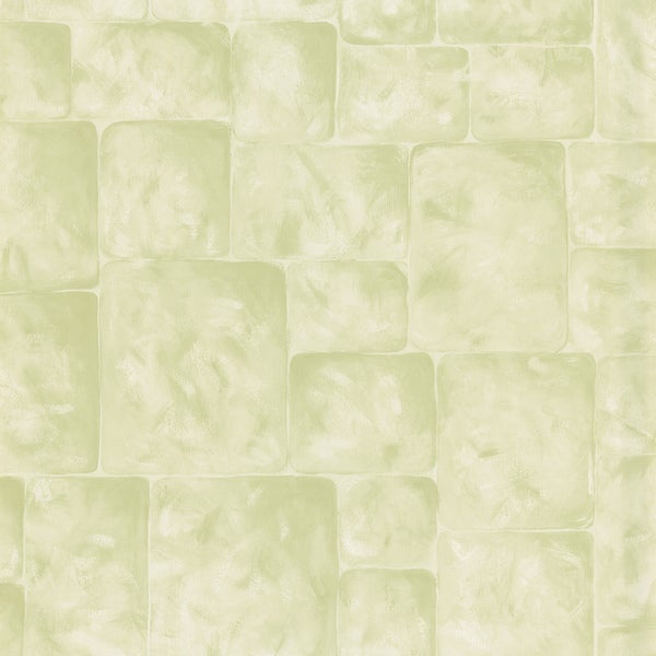 Light Green Stone Wall Wallpaper