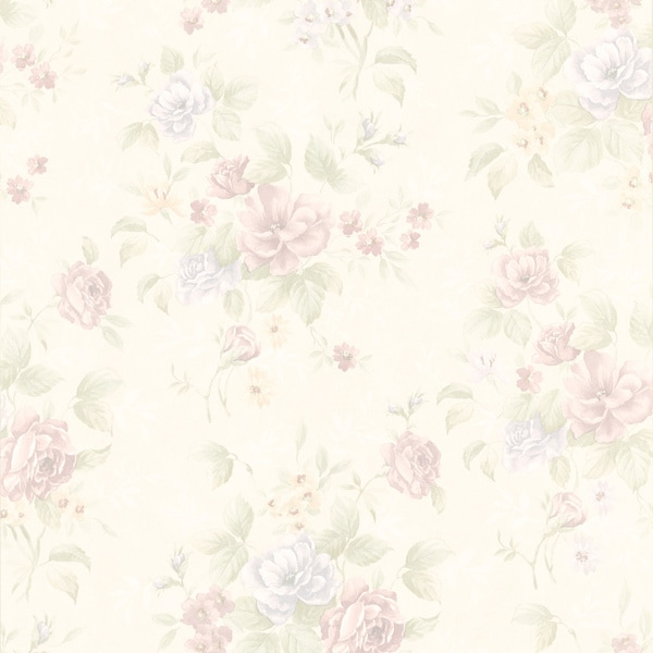 Mauve Floral Wallpaper