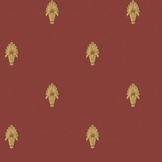 Red Classic Pattern Wallpaper