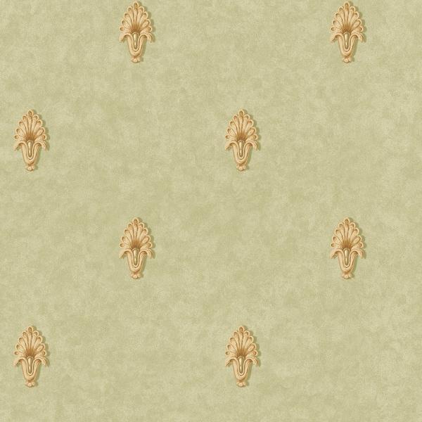 Olive Classic Pattern Wallpaper
