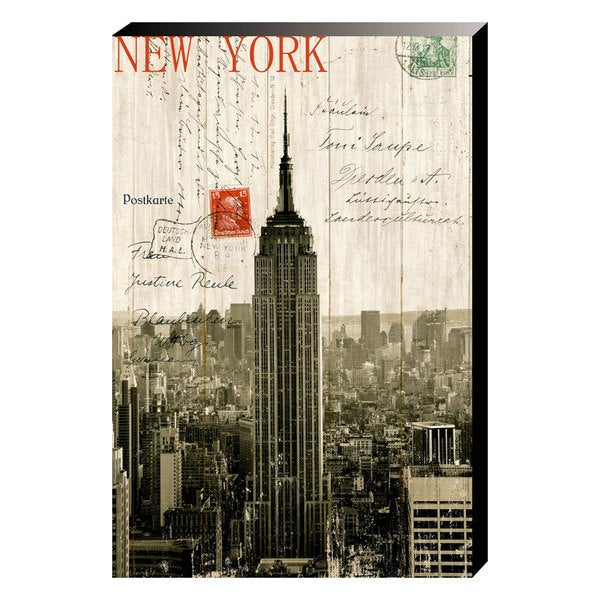 Empire State Building Postcard Crystal Painting