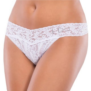 Coquette 'I Do' White Stretch Lace Thong