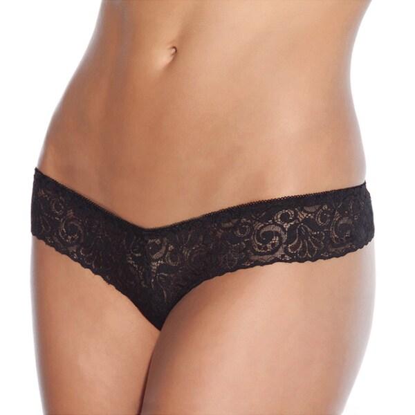 Coquette Women's Black Low-rise Lace Panties