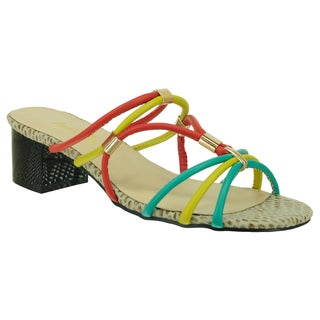 Ann Creek Women's 'Delray' Colorful Strappy Sandals