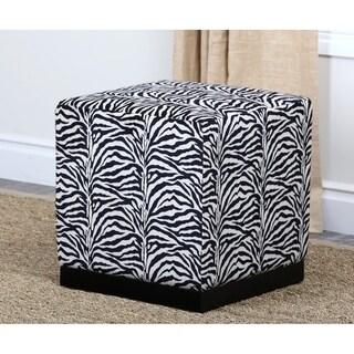 ABBYSON LIVING Oliver Zebra Fabric Cube Ottoman