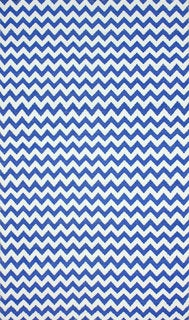nuLOOM Flatweave Indoor/ Outdoor Reversible Chevron Blue Rug (5' x 8')