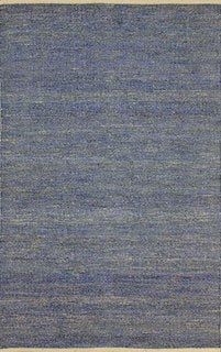 nuLOOM Flatweave Textured Seagrass Blue Rug (5' x 8')