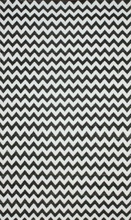 nuLOOM Flatweave Indoor/ Outdoor Reversible Chevron Black Rug (5' x 8')