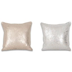 Crackle Metallic 18 x 18-inch Throw Pillow
