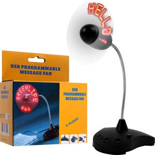 USB Programmable Message Fan (Set of 2)