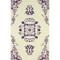 nuLOOM Handmade Traditional Open Field Vintage Purple Rug (7'6 x 9'6)